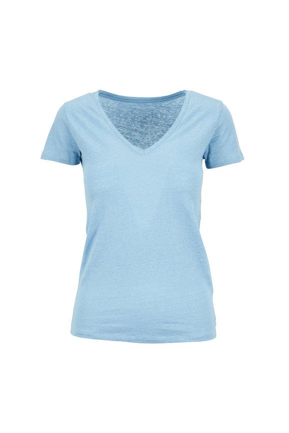 Majestic Light Blue V-Neck Deluxe T-Shirt