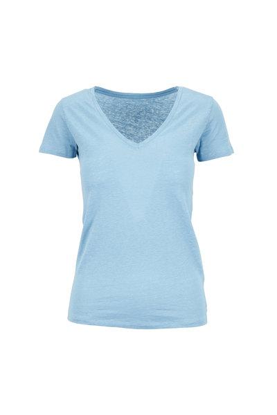 Majestic - Light Blue V-Neck Deluxe T-Shirt