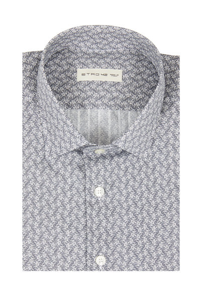 Etro - Gray Mini Paisley Sport Shirt