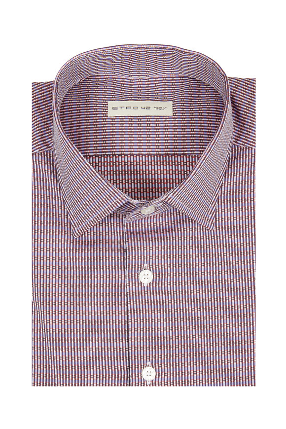 Etro Blue Striped Sport Shirt