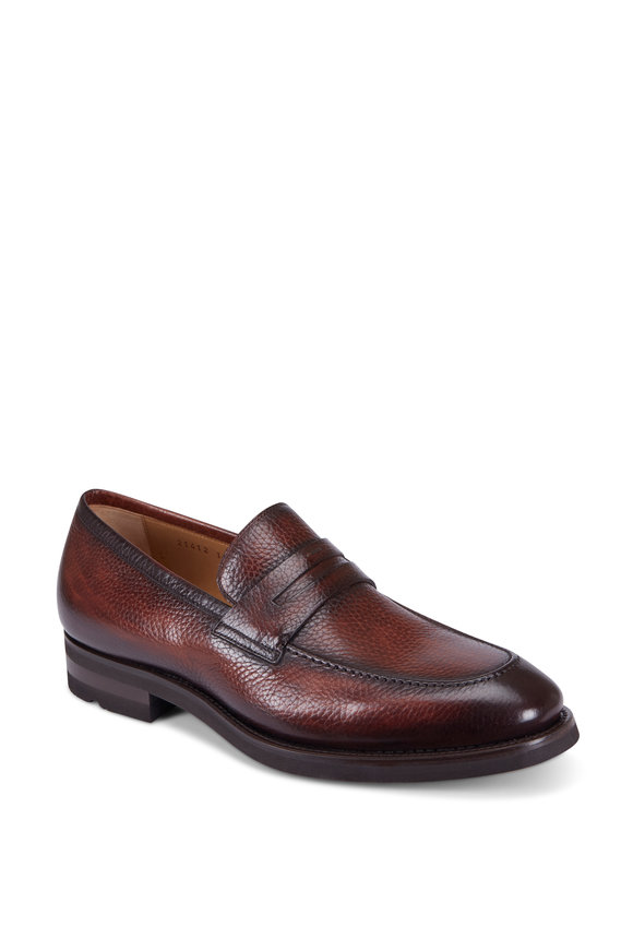 Magnanni Matlin Medium Brown Leather Loafer