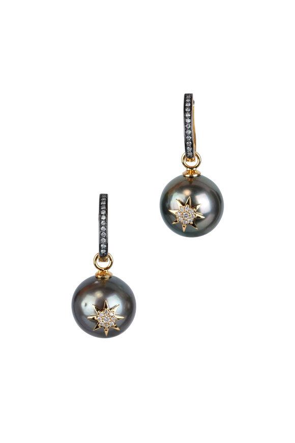 Loren Jewels 18K Diamond & Tahitian Pearl Drop Earrings