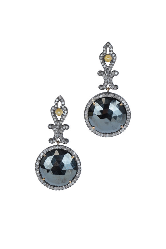 Loren Jewels 14K Gold & Silver Black Spinel Drop Earrings