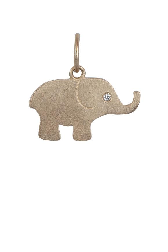 Julez Bryant 14K Rose Gold Elephant Pendant