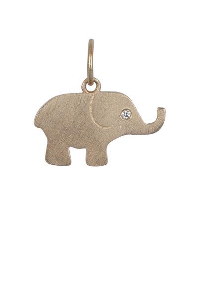 Julez Bryant - 14K Rose Gold Elephant Pendant