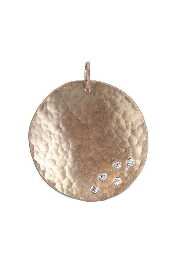Julez Bryant 14K Yellow Gold Megg Medallion Pendant