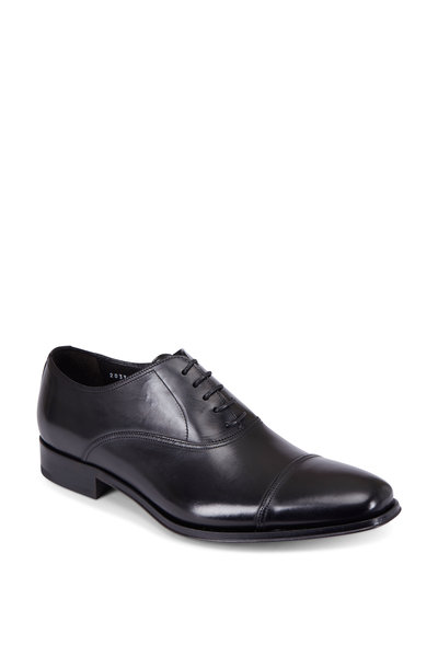 To Boot New York - Aidan Black Leather Cap-Toe Dress Shoe