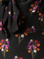 Borgo De Nor - Ophelia Black Silk Floral Printed Maxi Dress