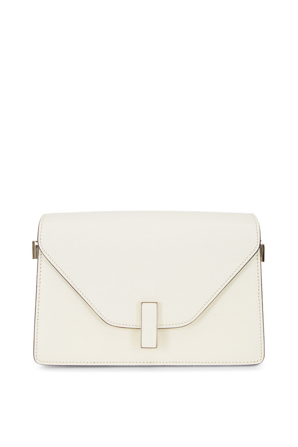 Valextra Iside White Saffiano Shoulder Bag