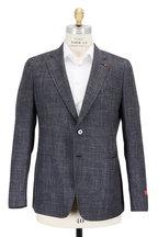 Isaia - Black Melange Wool, Silk & Linen Sportcoat