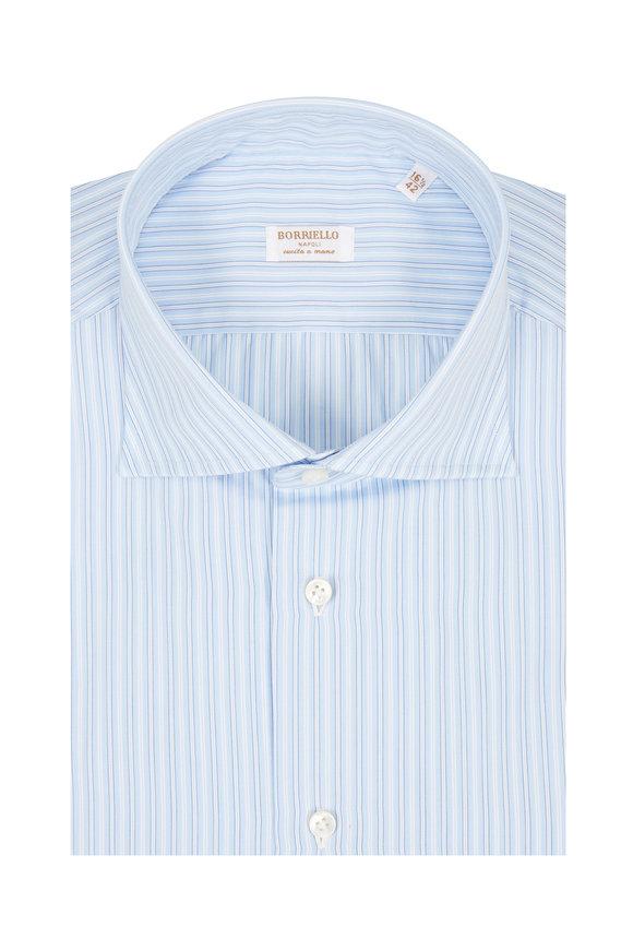 Borriello Light Blue Striped Dress Shirt