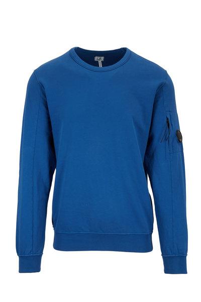 CP Company - Moroccan Blue Light Fleece Crewneck Sweatshirt