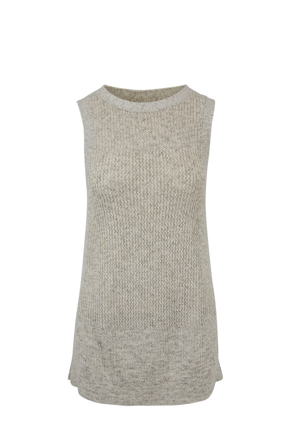 Kinross Sand Drift Cotton Sleeveless Tunic