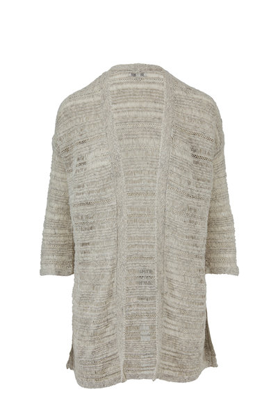 Kinross - Sand Drift Cotton Open Weave Cardigan