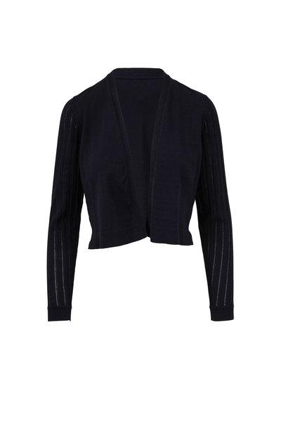 Kinross - Black Fine Gauge Cotton Cardigan