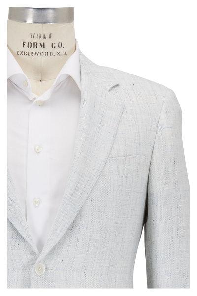 Canali - White Melange Linen & Wool Sportcoat