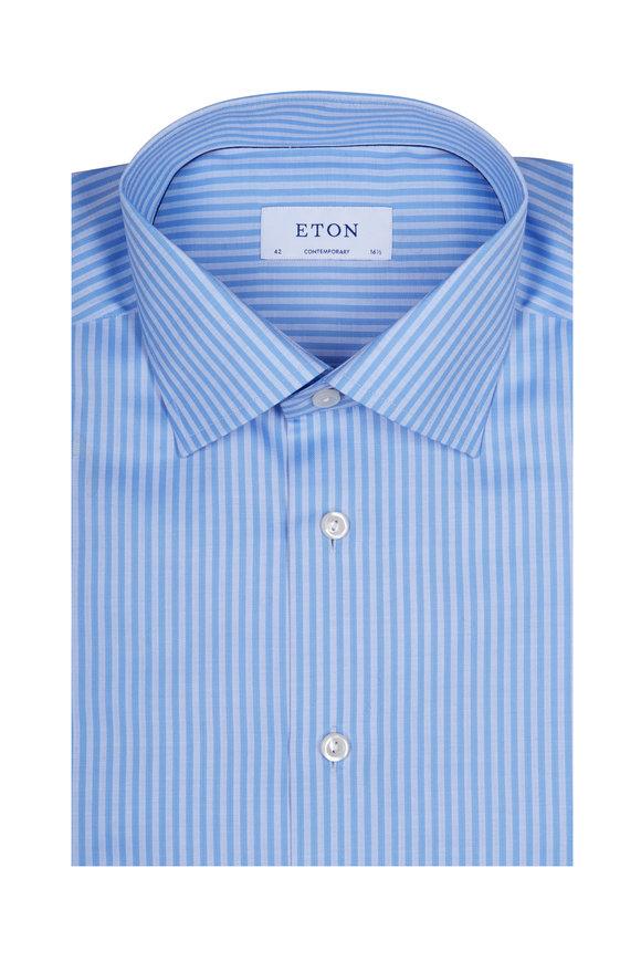 Eton Light Blue Striped Dress Shirt