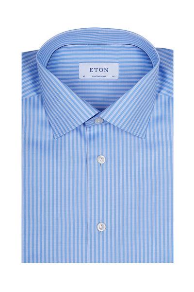 Eton - Light Blue Striped Dress Shirt