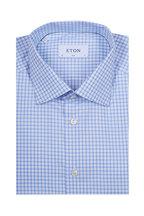 Eton - Light Blue Check Slim Fit Dress Shirt