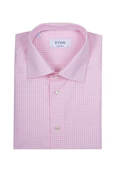 Eton - Pink & White Check Dress Shirt
