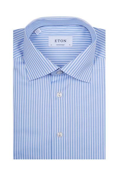 Eton - Blue Bengal Striped Dress Shirt