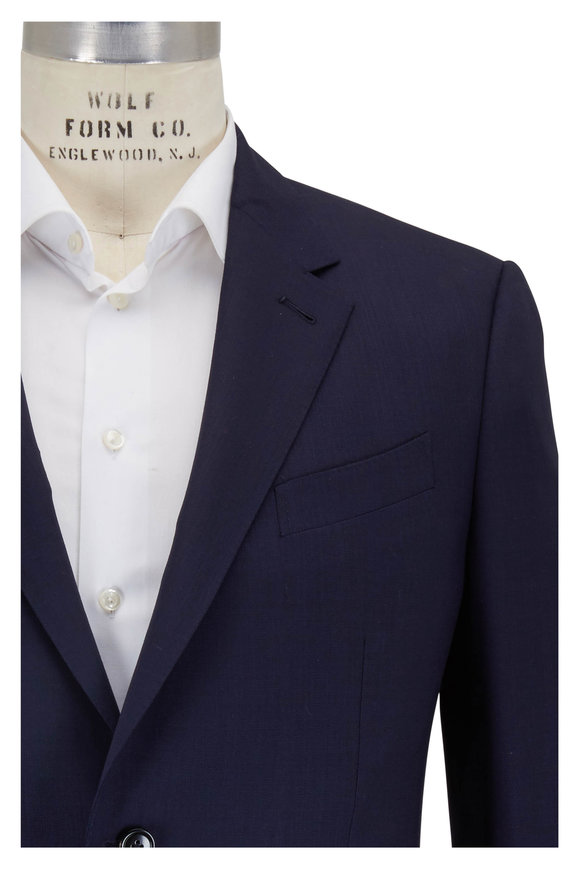 Ermenegildo Zegna Navy Wool High Performance Packaway Suit