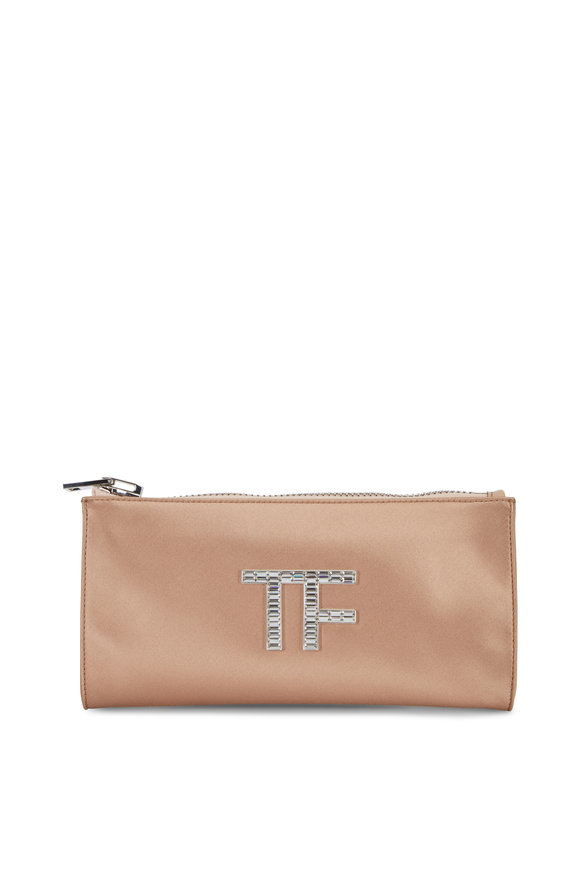 Tom Ford Nude Satin Crystal TF Clutch