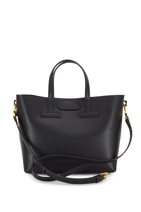 Tom Ford Black Saffiano Mini T Tote