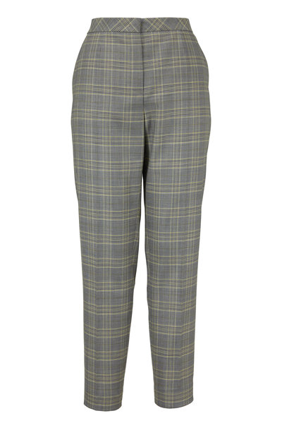 Escada - Talaranto Limonade Glen Plaid Slim Pant