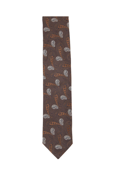 Eton - Brown Paisley Silk Necktie