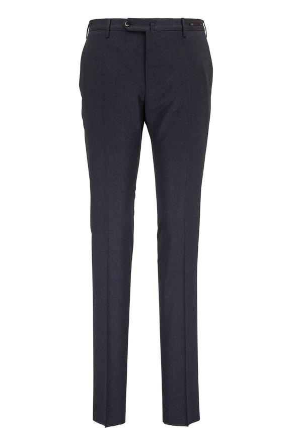 PT Pantaloni Torino Charcoal Gray Stretch Wool Slim Fit Pant