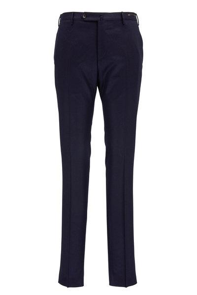 PT Torino - Navy Stretch Wool Slim Fit Pant