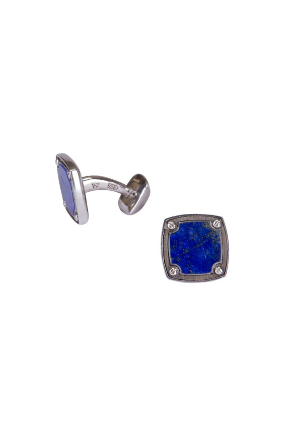 Stephen Webster Lapis Sterling Silver Cuff Links