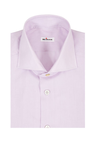 Kiton - Lavender Micro-Striped Dress Shirt