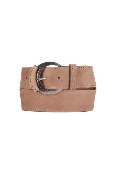 Kim White - Beige Leather Tipped Belt