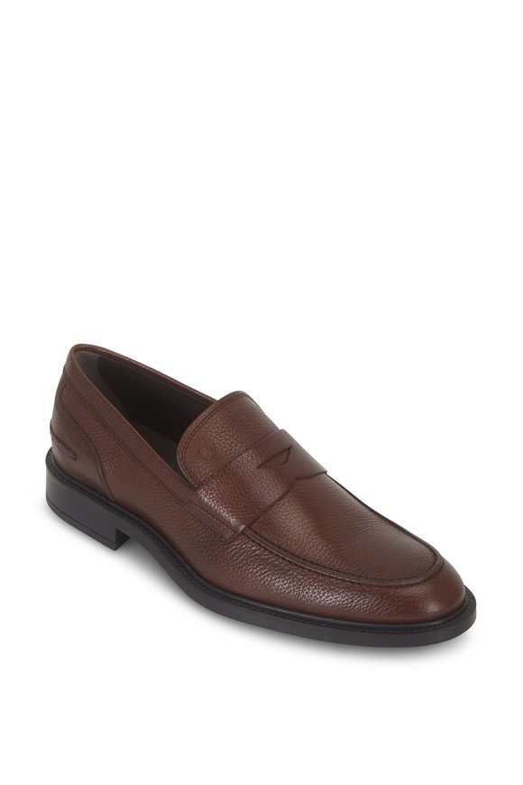 Tod's New Boston Grained Leather Penny Loafer