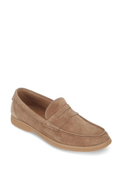 Brunello Cucinelli - Light Brown Suede Soft Penny Loafer