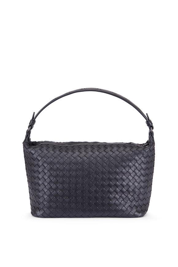 Bottega Veneta Intrecciato Ciambrino Black Woven Shoulder Bag
