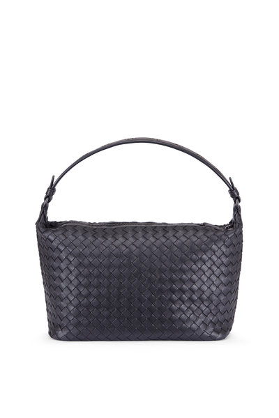 Bottega Veneta - Intrecciato Ciambrino Black Woven Shoulder Bag
