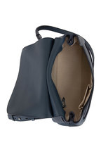 The Row - Sideby Teal Leather Crossbody Bag