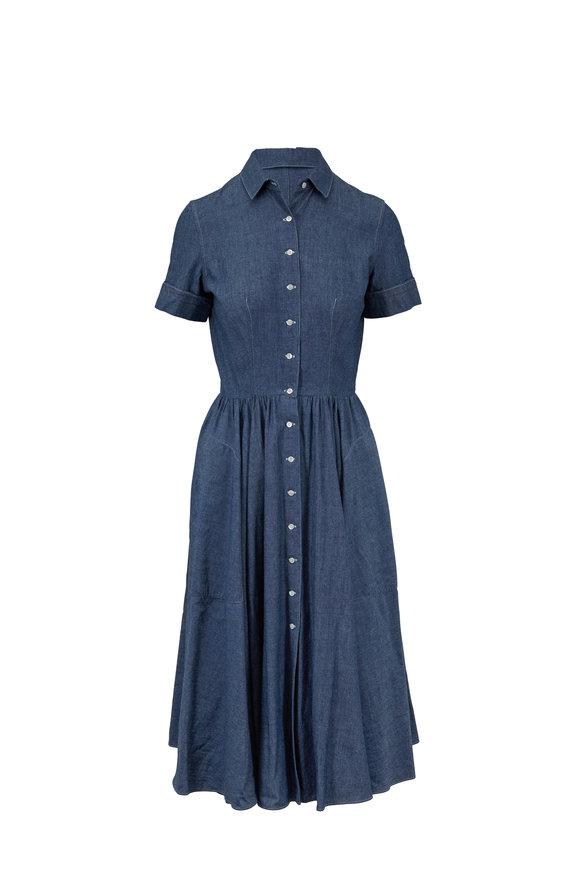 Aspesi Denim Blue Cotton Dress