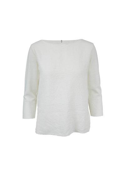 Majestic - White Raw Edge Trim Deluxe T-Shirt