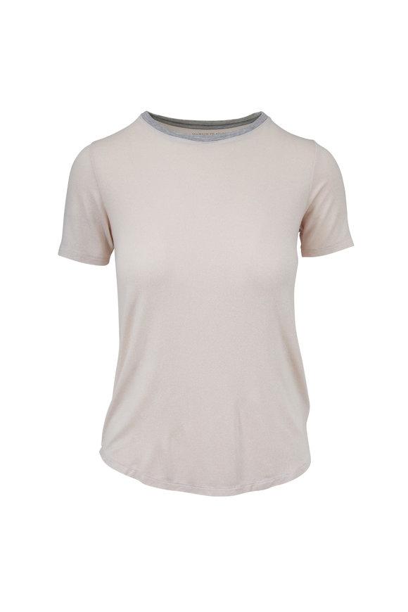 Majestic Light Pink Metallic Superwashed Crewneck T-Shirt