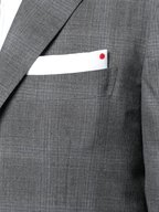 Kiton - Gray Cashmere Tonal Plaid Suit