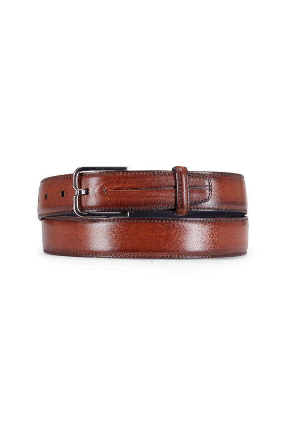 Berluti Dark Brown Leather Belt
