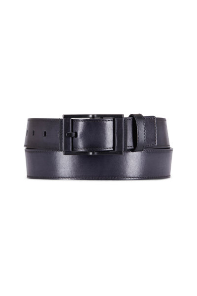 Berluti - Black Square Buckle Belt