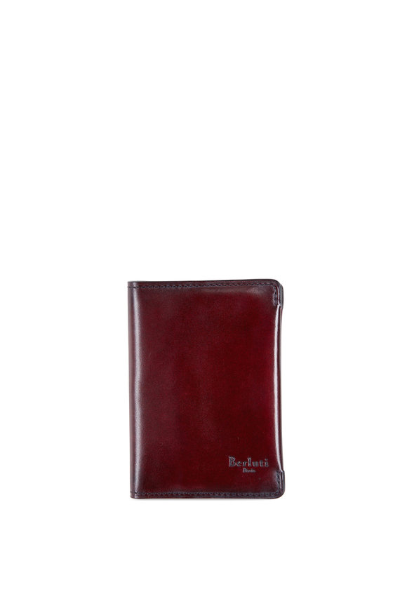 Berluti Ideal Mogano Calf Leather Cardholder