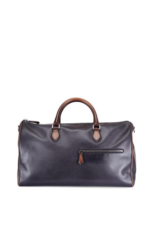 Berluti Jour-Off Indigo Denim Calf Leather Travel Bag