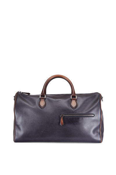 Berluti - Jour-Off Indigo Denim Calf Leather Travel Bag