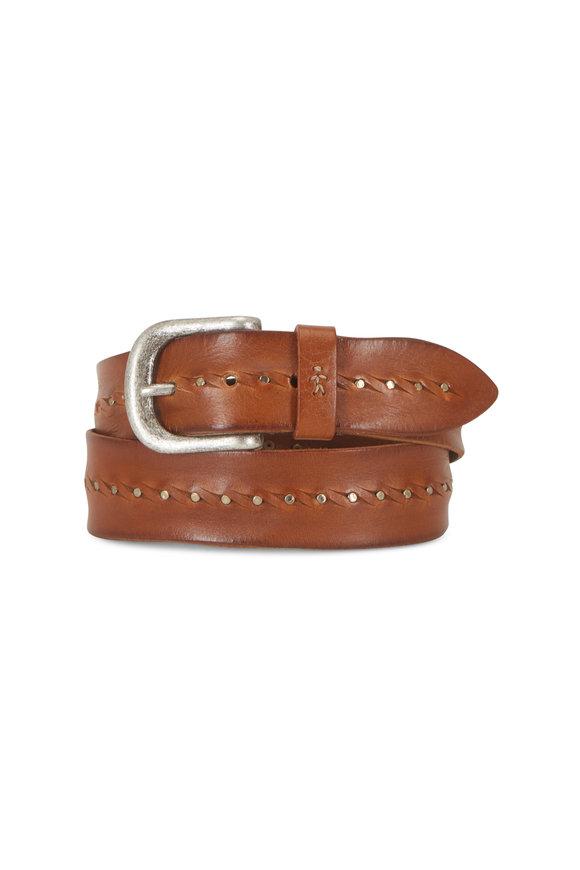Henry Beguelin Cognac & Tan Leather Belt